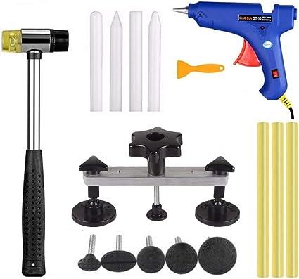 Elevador de Aluminio Kit de 11pcs Herramientas para Reparaci/ón de Abolladuras KKmoon Extractor de Abolladuras