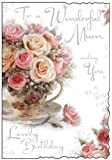 Mum Carte d'anniversaire roses Rose (jj8344)