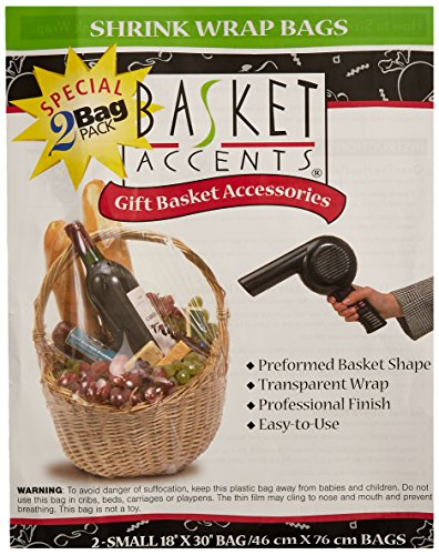 Photo Frog 66041 Basket Accents Shrink Wrap Bags Small 18