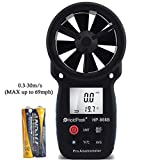 HOLDPEAK 866B Digital Anemometer – THE BEST Wind Speed Meter Measures Wind Speed + Temperature + Wind Chill with Backlight For Windsurfing Kite Flying Sailing Surfing Fishing Etc.