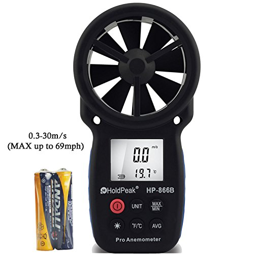HOLDPEAK 866B Digital Anemometer Handheld Wind Speed Meter