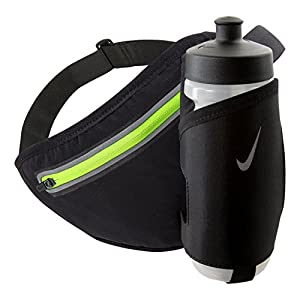 Nike Lean 22 oz Hydration Waistpack (BLACK/VOLT)