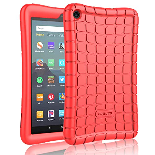 Cuauco Silicone Case for All-New Amazon Fire 7 Tablet (9th Generation, 2019 Release)-[Kids Friendly] Light Weight [Anti Slip] Shock Proof Protective Cover for All-New Fire 7 Tablet (7