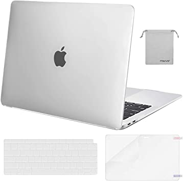 New MacBook Air 13 Inch Case 2018 Release A1932 Frosted BLK Hard Shell KB Cover