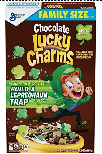 Lucky Chocolate - Chocolate Lucky Charms Limited Edition Family Size 21.2 ounces