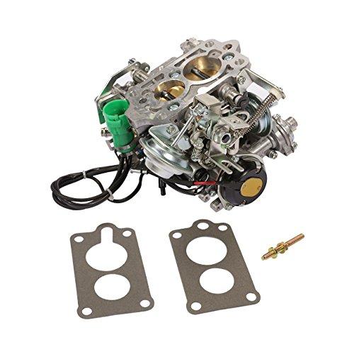 ALAVENTE Carburetor Carb for Toyota 2 barrel 22R Engine 1981 1982 1983 1984 1985 1986 1987 with Round Plug Connector TOY-505 TOY-507, Automatic choke(35290/2.4L 2366cc / C4036)