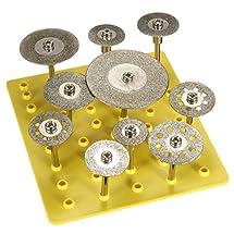 "BABAN 10X 1/8"" Diamond Saw Cut Off Discs Wheel Blades Rotary Tool Set Shank for Dremel"