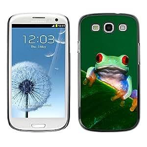 YOYO Slim PC / Aluminium Case Cover Armor Shell Portection //Cool Happy Tree Frog //Samsung Galaxy S3