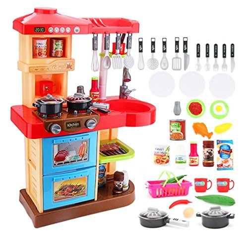 deAO Toddler Kitchen Playset My Little Chef With 30 Accessories Role...