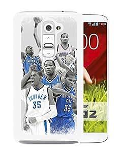 For LG G2,Oklahoma City Thunder Kevin Durant 6 White Protective Case For LG G2
