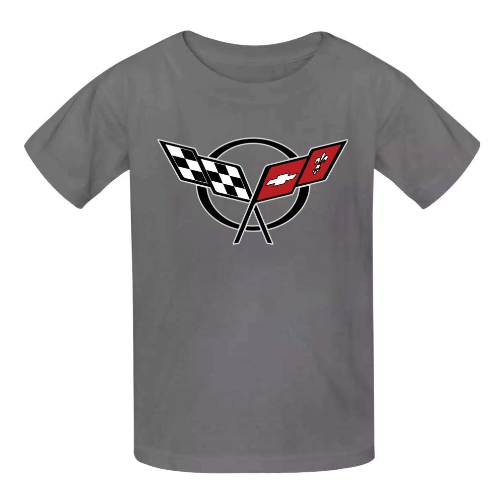 Fuxejin Kids T Shirt Corvette Auto Logo Print Short Sleeves Shirt Top Tees for Girl Boy