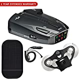 Cobra ESD7570 9-Band Performance Radar/Laser Detector with 360 Degree Detection with Car Mat Bundle + 1 Year Extended Warranty