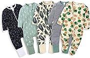 Kawaii Baby Cotton Bodysuits and Sleepers, Baby Bodysuit, Cotton Sleepers - Pack of 5.
