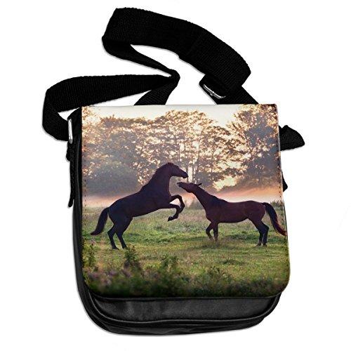 Schultertasche, Nr. 157, Motiv: Spielende Pferde