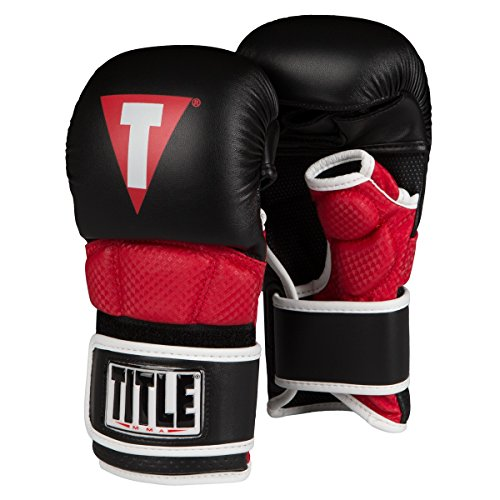 Title Mma Training - Title MMA Full Contact Sparring Gloves, Black/Red, Regular