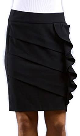 Above the Knee Tiered Ruffle Skirt at Amazon Women's Clothing store:
