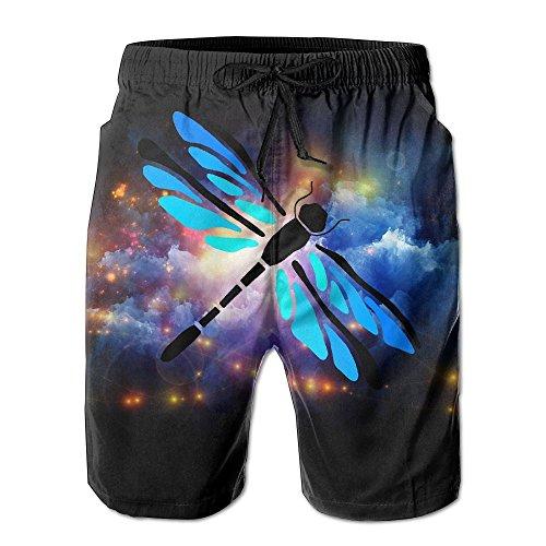 Custom Playful Dragonfly Funny Logo Pattern Shorts For Man Elastic Waist Pockets Lightweight Beach Shorts Boardshort - Sunglasses Dragon Logo