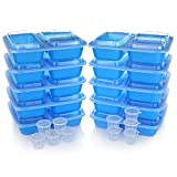 Toys : Meal Prep Containers w/ Lids. 10-Pack Reusable 3 Compartment (36 oz) Microwave/Dishwasher Safe. BPA Free Plastic Bento Box Best for Food Storage, Portion Control & Weight Loss. BONUS 10 Sauce Cups