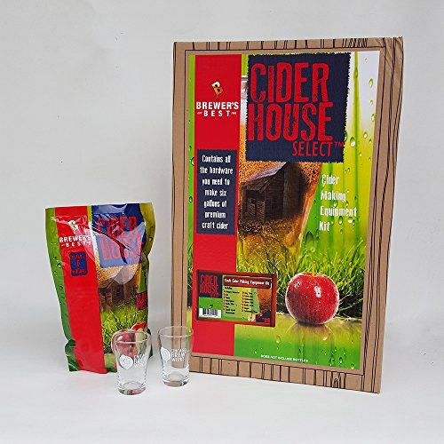 Cider House Select Spiced Apple Cider Making Equipment and Ingredient Kit, Includes 2 Chicago Brew Werks Tasting Glasses by Chicago Brew Werks