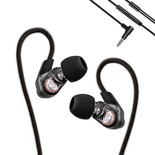 Remax - RM-580 Sports Earhook Headphones Earbuds Earphones With Microphone - Sweatproof, Noise Cancelling, HIFI Stereo Bass, Crystal Clear Sound, Ergonomic Comfort-Fit Design, Best for Running (Black)