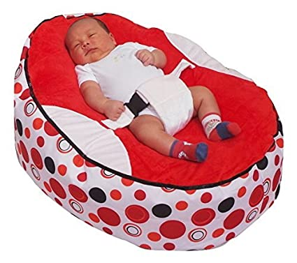 BABY BEAN BAG WITH ADJUSTABLE SAFETY HARNESS & 2 COVERS-PRE-FILLED