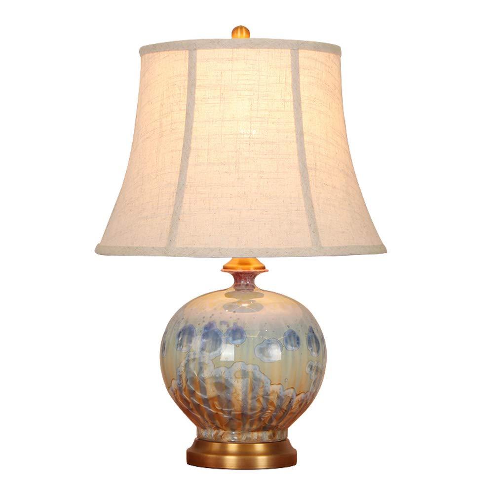 SChunLian セラミックテーブルランプE27、ベッドルームベッドサイドスタディデスクランプ 柔らかい光 (サイズ さいず : 36*36*55CM) 36*36*55CM  B07S7CYV9Y