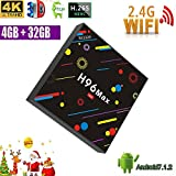 [2018 Version] TV Box, H96 Max 4GB +32GB Smart 4K TV Box Android 7.1 RK3328 Quad Core CPU Wifi Set Top Boxes Support 3D 4K Ultra HD TV