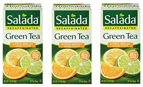 (Salada Decaffeinated Green Tea Citrus Medley - 20 Tea Bags (Pack of 3) - 60 Bags Total)