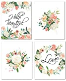 "room decor ideas 8"" x10"" Flower Nursery Prints for Baby Girl Room Decor & Decorations Perfect for Baby Shower Gift Ideas"