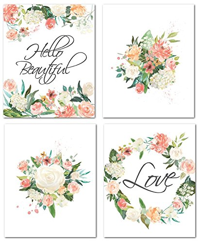 "8"" x10"" Flower Nursery Prints for Baby Girl Room Decor & Decorations Perfect for Baby Shower Gift Ideas from Nora's Nursery"