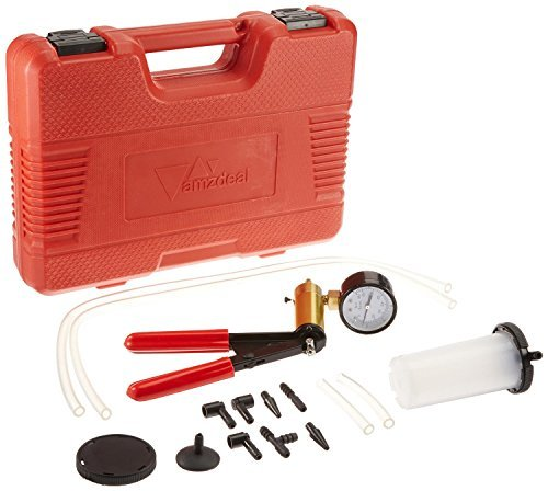 Amzdeal N200-025-BL Brake Bleeder Vacuum Pump Kit Tools Hand Held Vacuum Gauge with Hoses Connector for Automotive by Amzdeal (Image #6)