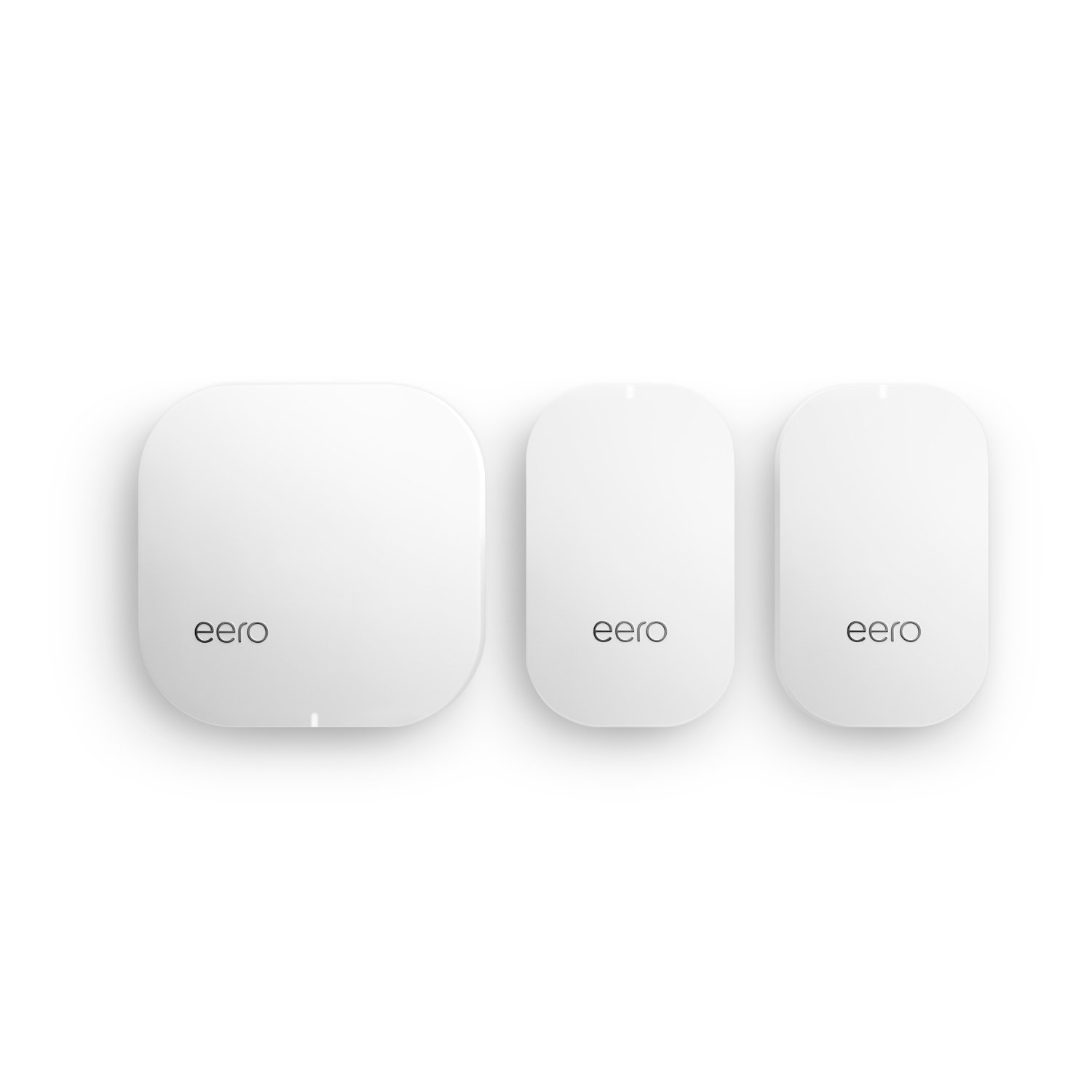 eero Home WiFi System (1 eero + 2 eero Beacons) - Advanced Tri-Band Mesh WiFi Technology and WPA2 Encryption to Replace WLAN Routers and WiFi Range Extenders - Coverage: 2-4 Bedroom Home