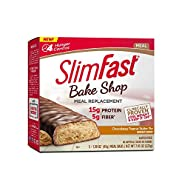 Slim Fast Bake Shop, High Protein Meal Replacement Bar, Chocolatey Peanut Butter Pie, 5 Count