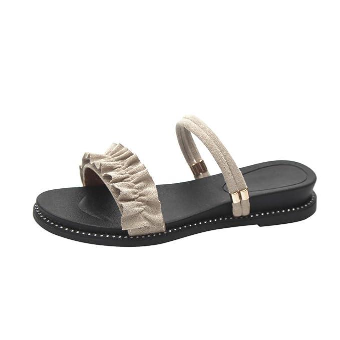 Covermason Zapatos Sandalias mujer verano 2018, playa de tacón plano de mujer de moda: Amazon.es: Ropa y accesorios