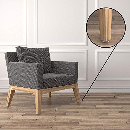 Katzco 1 inch - 32 Pc. Felt Furniture Floor Pads - Hook In Protectors Furniture, Tile, Hardwood, Laminate Flooring, Patio, Office, Work, Bedroom, Surfaces, Restaurants, Dining, Home Kitchen by Katzco (Image #2)