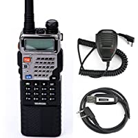 Baofeng UV-5RE8W Walkie Talkie Tri-Power 1W/4W/8W High Power 3800mAh Battery Dual-Band VHF/UHF Two-Way Radios with 3 Antennas
