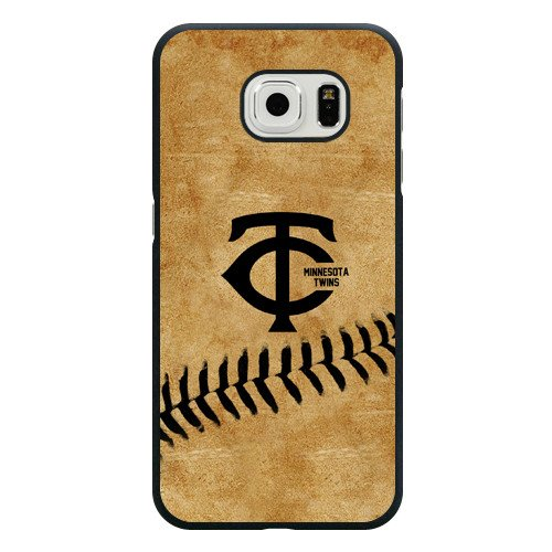 Galaxy S6 Case, Onelee(TM) MLB Minnesota Twins Samsung Galaxy S6 Case [Black Hard Plastic]