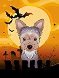 Caroline's Treasures BB1790GF Halloween Yorkie Puppy Garden Size Flag, Small, Multicolor For Sale
