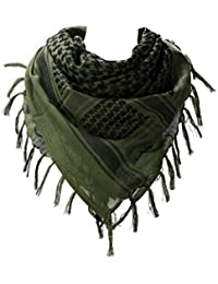 100% Cotton Military Shemagh Arab Tactical Desert Keffiyeh Thickened Scarf  Wrap for Women and Men e2ee90a810