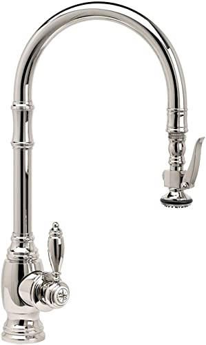 Waterstone 5600-PN Traditional Standard Reach PLP Pulldown Faucet Polished Nickel
