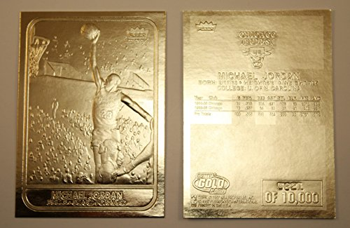 MICHAEL JORDAN 1986 Fleer ROOKIE 23KT Gold Card Sculptured NM-MT Serial #/10,000 ()
