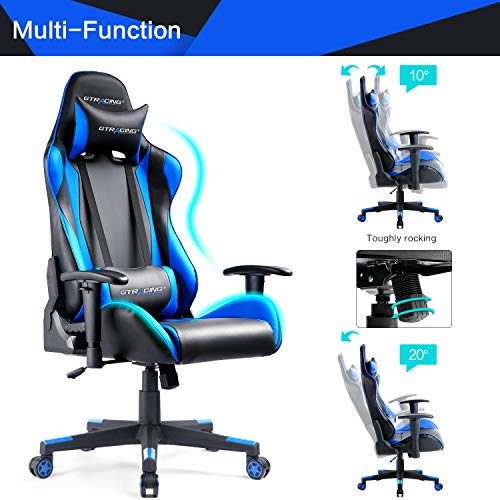 Gtracing Office Ergonomic Racing Computer Gaming Chair Game mn80wN