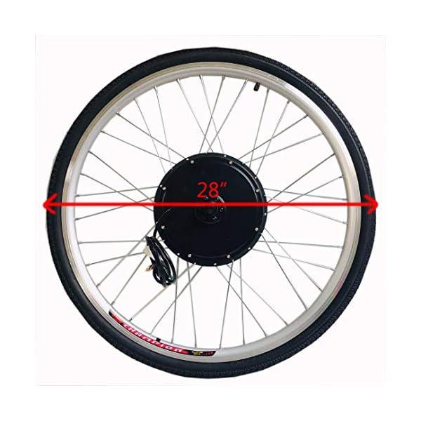 """26""""/ 28"""" 36V/ 48V 250W/ 1000W Kit di Conversione del Motore della Bici Elettrica della Ruota Anteriore Mozzo della Ruota della Bici Elettrica Anteriore Mozzo della Bici della Bicicletta Anteriore Kit del Motore della Bici Elettrica della Ruota Anteriore 2 spesavip"""