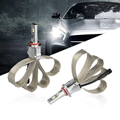 Led Headlight Bulbs Conversion Kit HB3/9005 CSP Fanless 48W 4800LM 6500K Cool White Waterproof Headlights for Car -2 Year Warranty