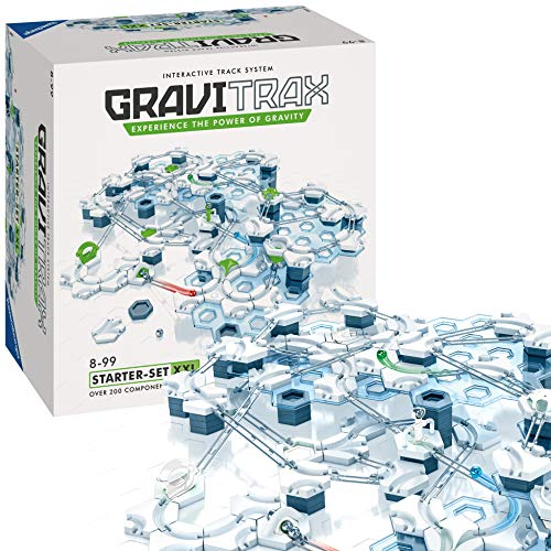 Ravensburger GraviTrax Starter Set XXL, Juego construcciones STEM, +200 componentes, Edad recomendada 8+ (27615)
