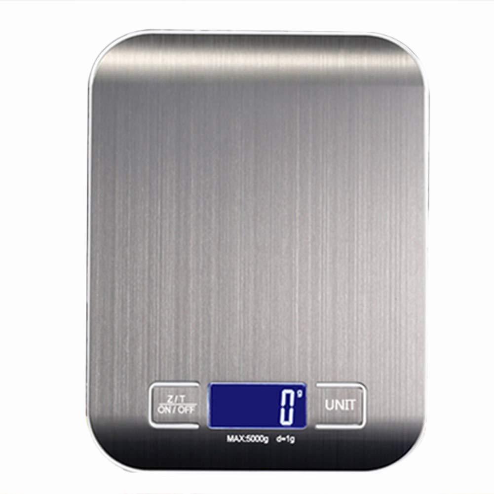 Pesaje de Alimentos Gram Scale Herramientas de Medici/ón Everpertuk Escala Electr/ónica de Cocina de Acero Inoxidable Digital B/áscula Digital para Cocina