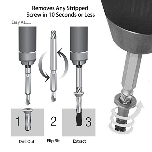 Buy drilling out stripped screws