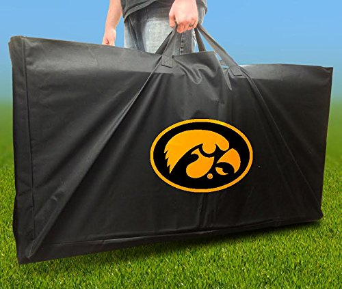 IOWA HAWKEYES Officially Licensed CORNHOLE Board CARRYING CASE Storage Carry Bag Iowa Bean Bag