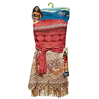 Disney Moana Girls Adventure Outfit, Age: 3+, Size: 4 - 6x andDisney Moana's Magical Seashell Necklace Bundle Toy: Toys & Games