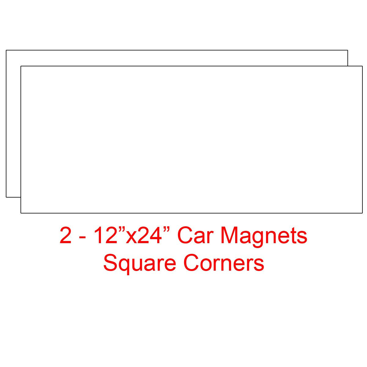 Amazon com 2 12x24 blank magnetic sign sheets blank car magnet signs 30 mil round corners office products